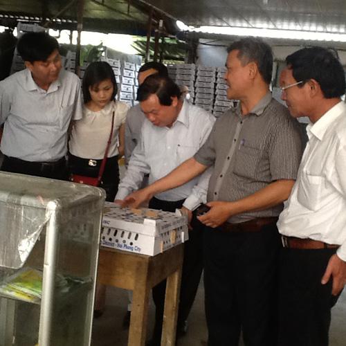 Lãnh đạo Trung ương Hội Nông dân thăm nông dân xuất sắc tại Hải Phòng